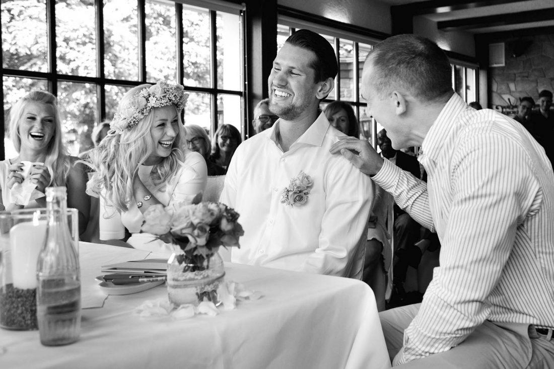 Speisesaal Hochzeit mit Brautpaar