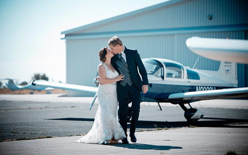 Hochzeitsshooting Flugplatz